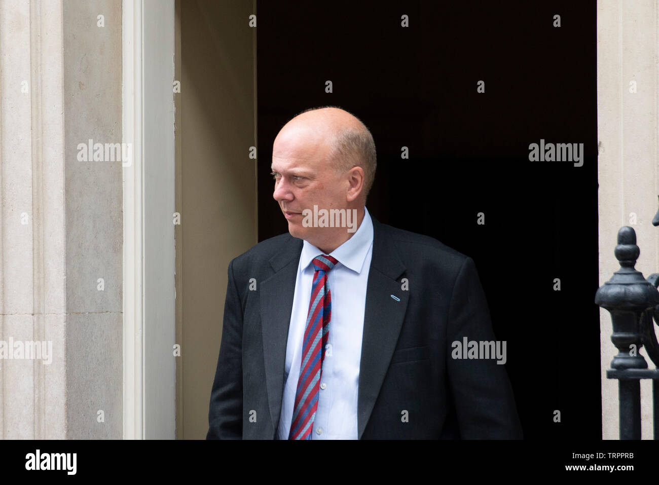 London, UK. 11th June, 2019. Transport Secretary Chris Grayling leaves Downing Street following a cabinet meeting. Credit: Claire Doherty/Alamy Live News Stock Photo