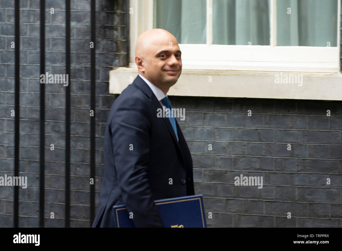 London, UK. 11th June, 2019. Home Secretary Sajid Javid leaves Downing Street following a cabinet meeting. Credit: Claire Doherty/Alamy Live News Stock Photo