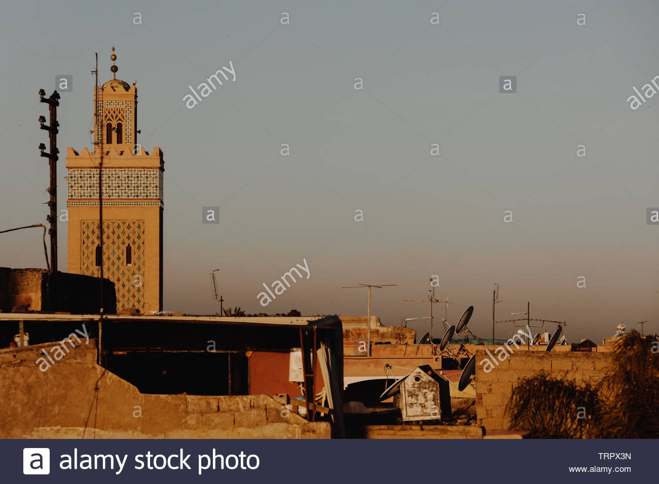 Impressions from mayor city and Kingdom of Morocco -  Marrakesh.  It is the fourth largest city in the country, after Casablanca, Fez and Tangier. Stock Photo