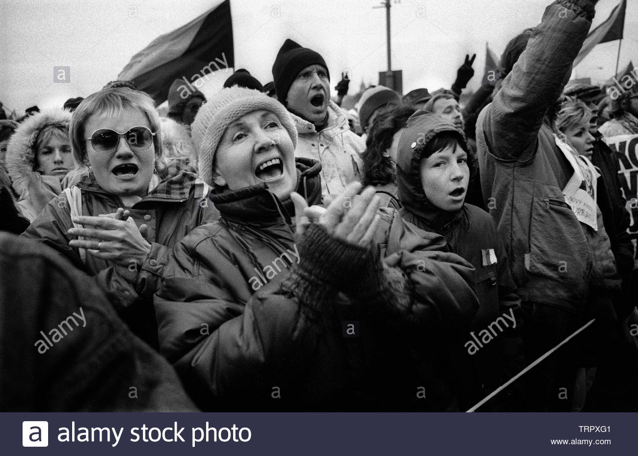 Czechoslovakia, Prague,1989 during the Velvet Revolution, the fall of communism in Eastern Europe. COPYRIGHT PHOTOGRAPH BY BRIAN HARRIS  © 07808-579804 Stock Photo