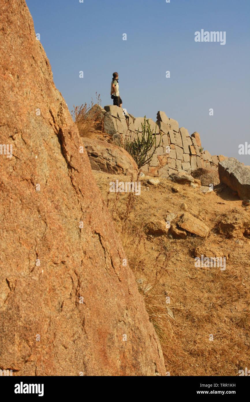 Breathtaking natural landscape of Hampi, Karnataka, India - Stock Image