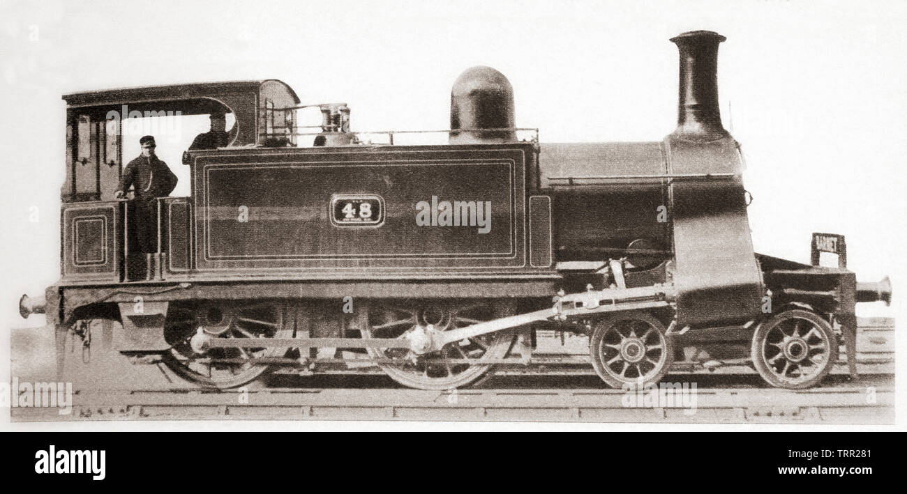 A North London railway engine.  From The Pageant of the Century, published 1934. - Stock Image