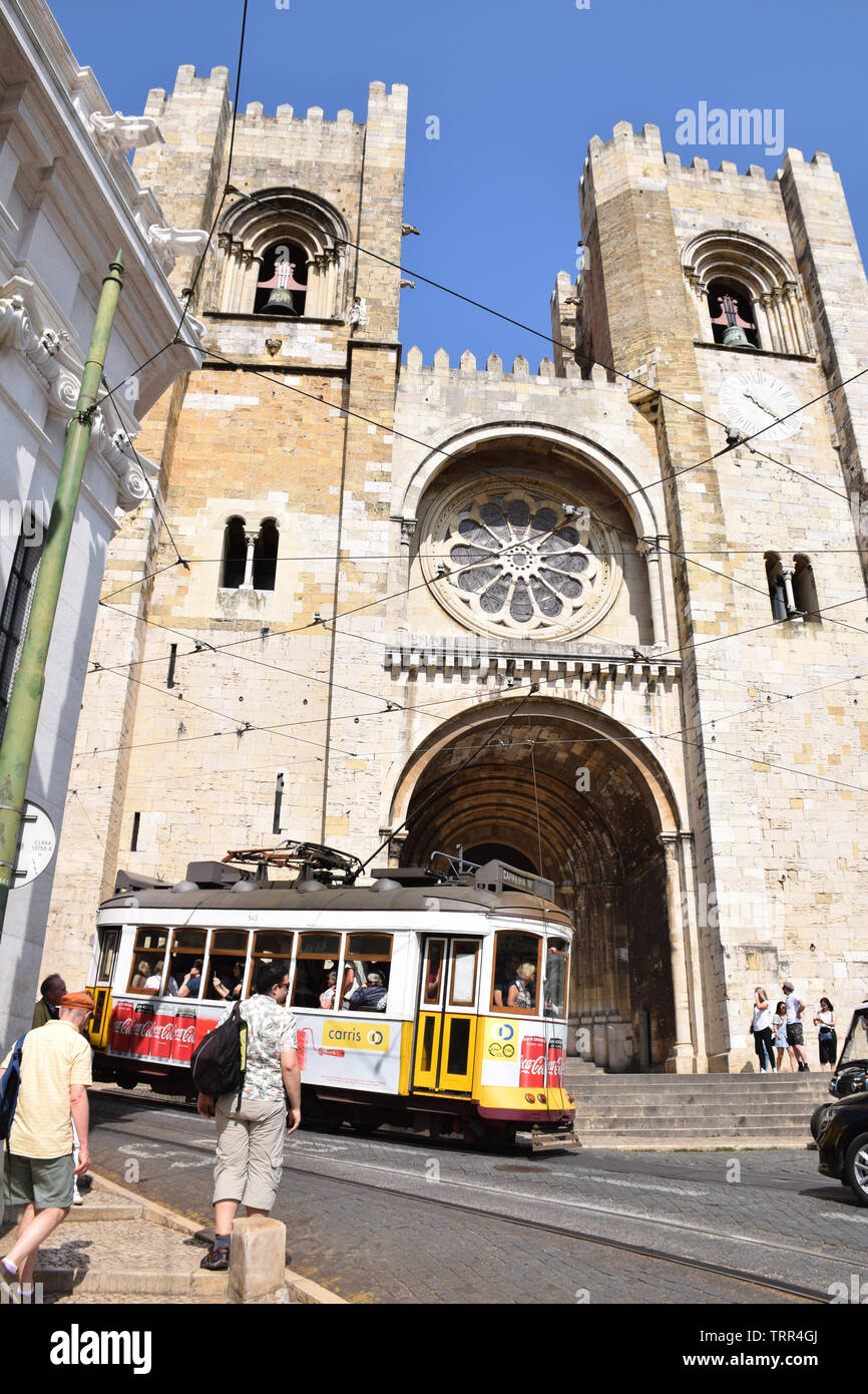 Se cathedral, Lisbon, Portugal, June 2019 Stock Photo