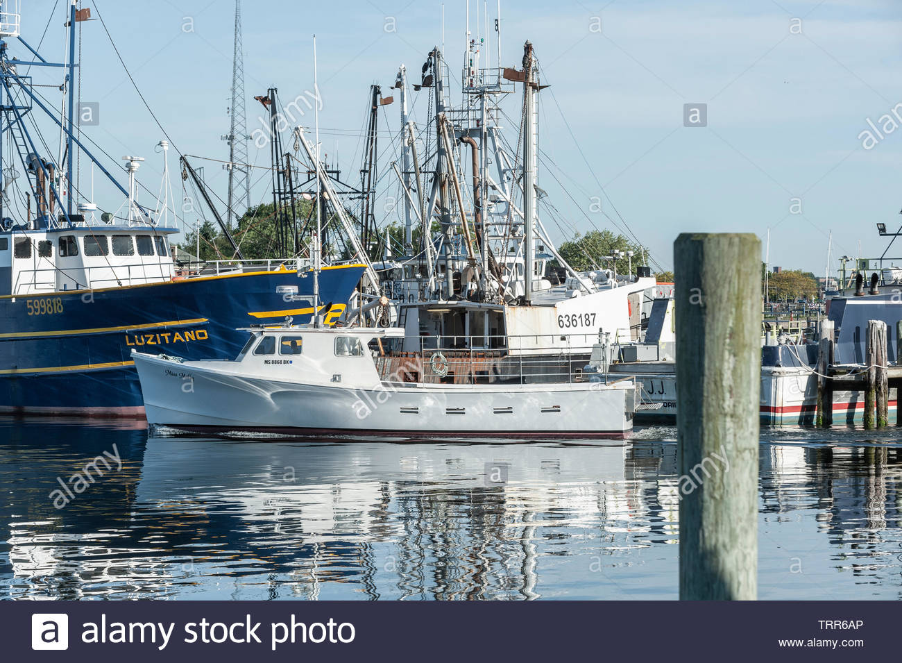 Fairhaven, Massachusetts, USA - June 9, 2019: Lobster boat