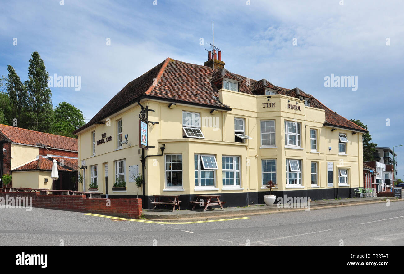 Bristol Arms Public House, Shotley Gate, Suffolk, England, UK - Stock Image