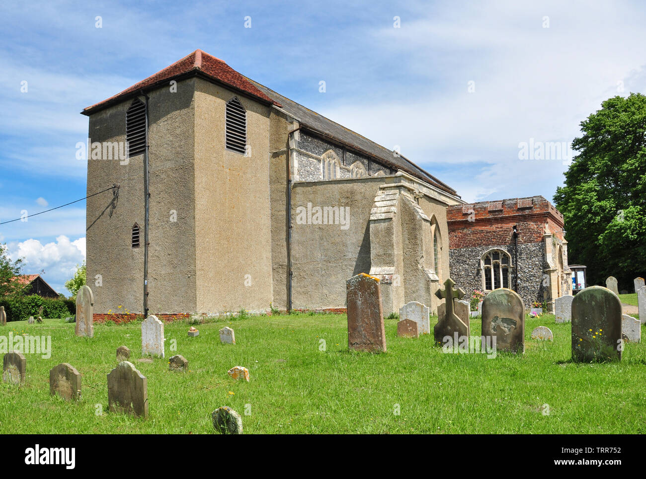 The Church of St Mary (St Mary's), Shotley, Suffolk, England, UK - Stock Image