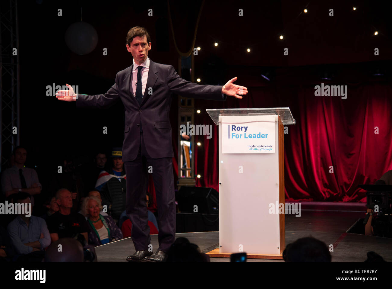 London, UK. 11th June, 2019. Rory Stewart MP formally launches his bid to become the new leader of the Conservative Party and Prime Minister of the United Kingdom. Credit: Claire Doherty/Alamy Live News Stock Photo