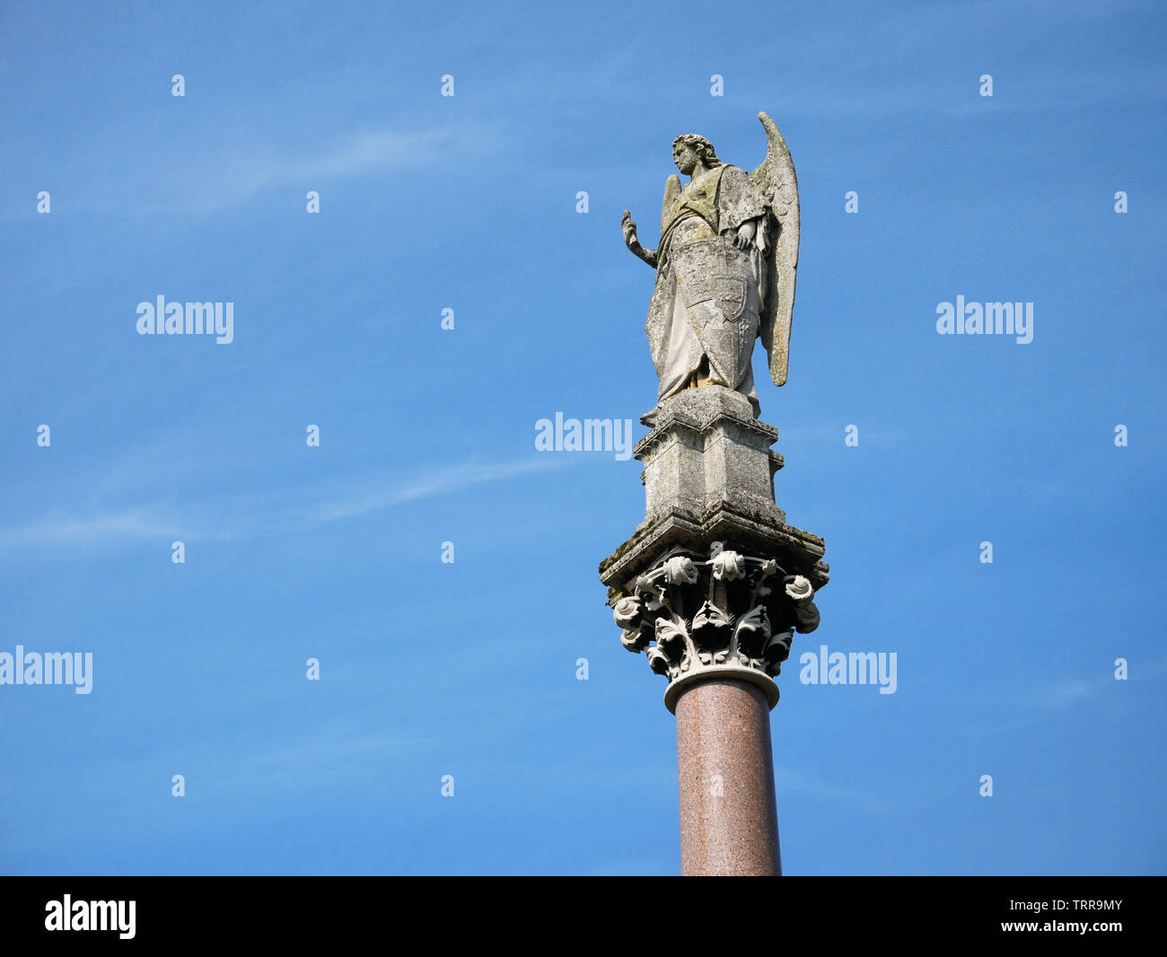 Angel, Waterford Fountain, Ford village. Stock Photo