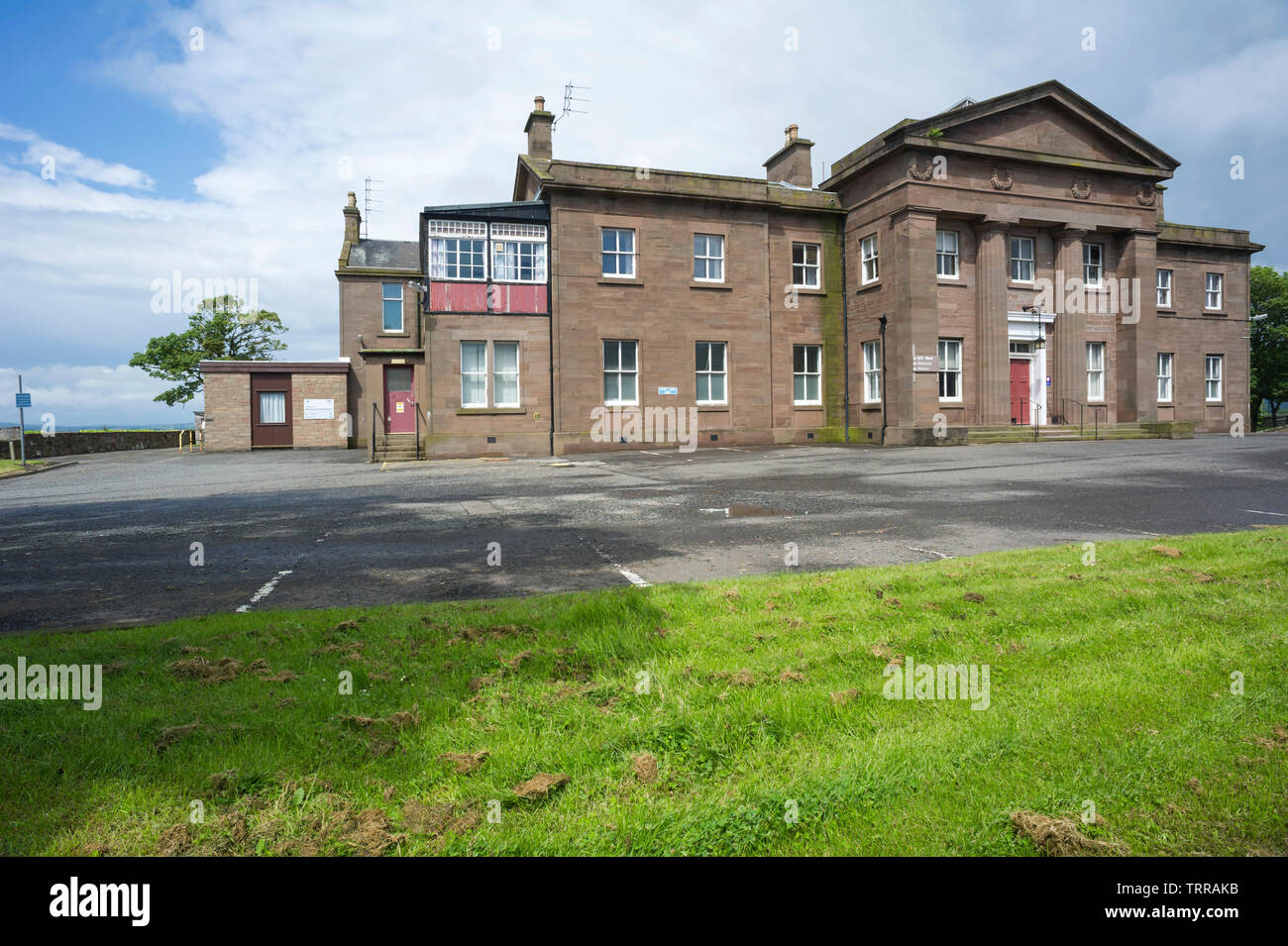The Old Montrose Royal Infirmary Gp And Maternity Unit Which Is Now And The Site Up For Sale Montrose Angus Scotland Uk Stock Photo Alamy