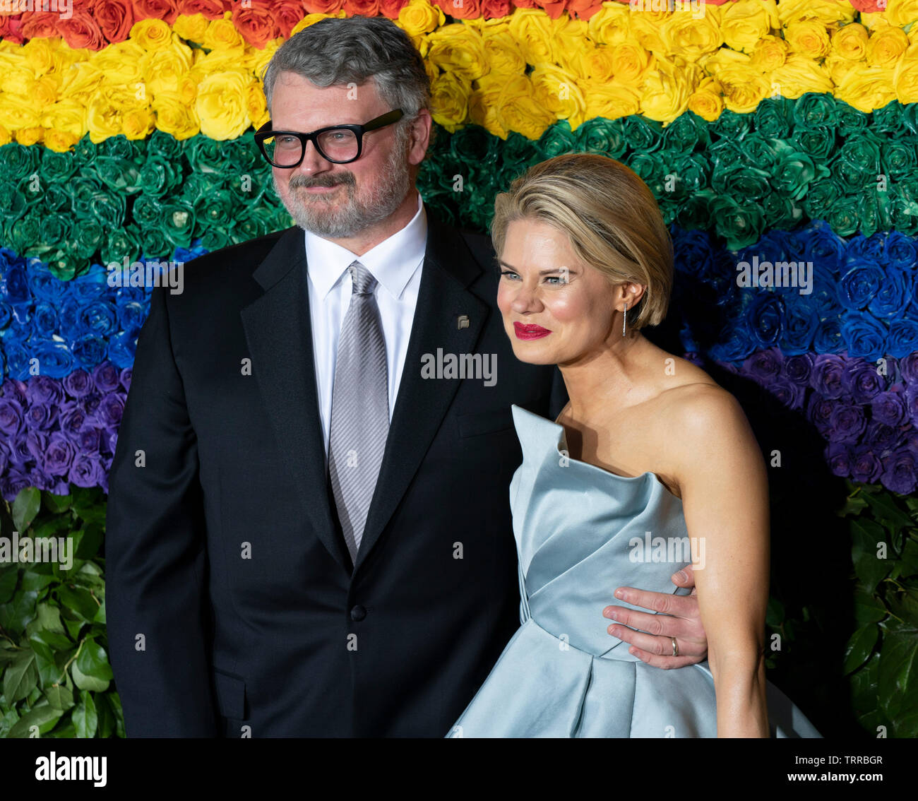 New York, NY - June 9, 2019: John Ellison Conlee and Celia Keenan-Bolger attend the 73rd annual Tony Awards at Radio City Music Hall - Stock Image
