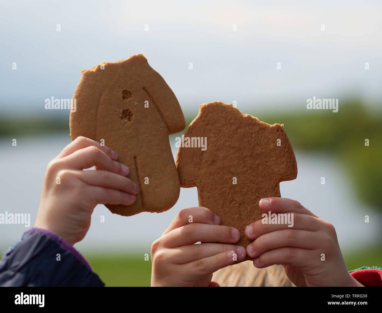 Headless gingerbread men - Manvers Lake, Wath-upon-Dearne, Rotherham, South Yorkshire, UK Stock Photo