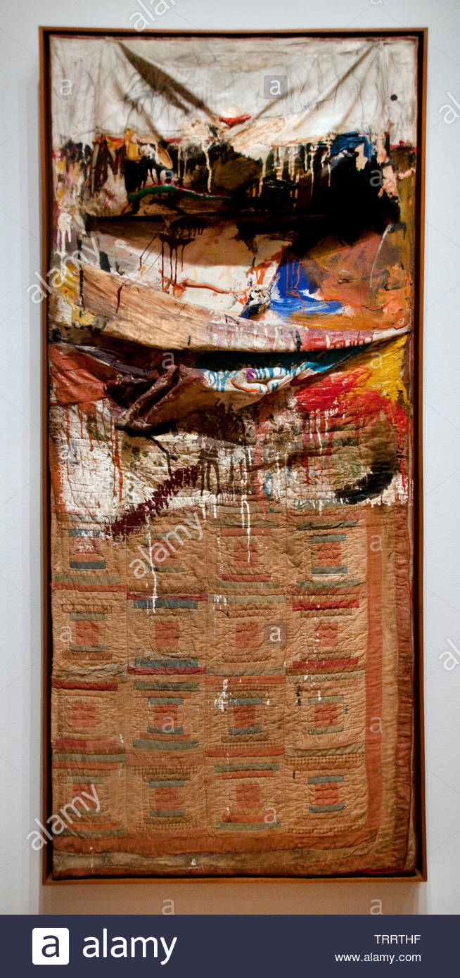 Bed by Robert Rauschenberg 1925 American, United States of America, USA, - Stock Image