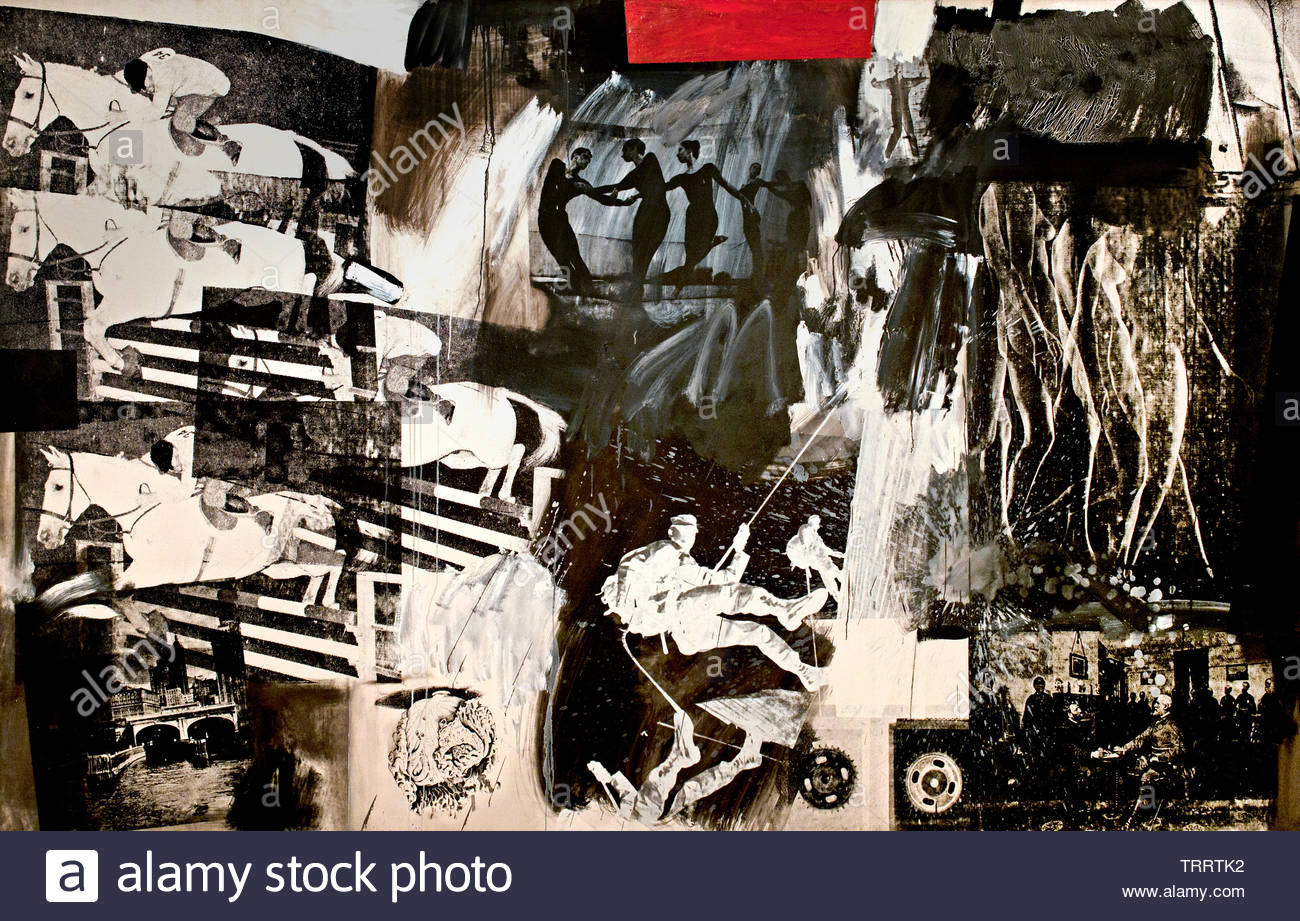 Express by Robert Rauschenberg 1925 American, United States of America, USA, - Stock Image