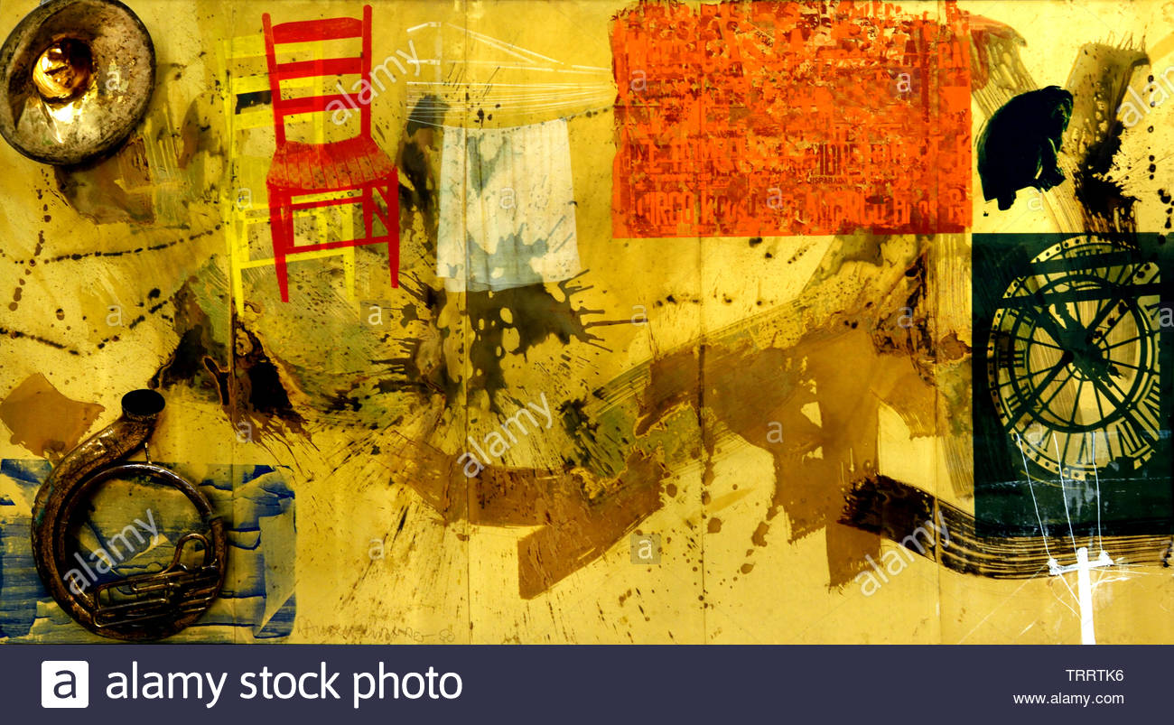 Wager - Wette by Robert Rauschenberg 1925 American, United States of America, USA, - Stock Image