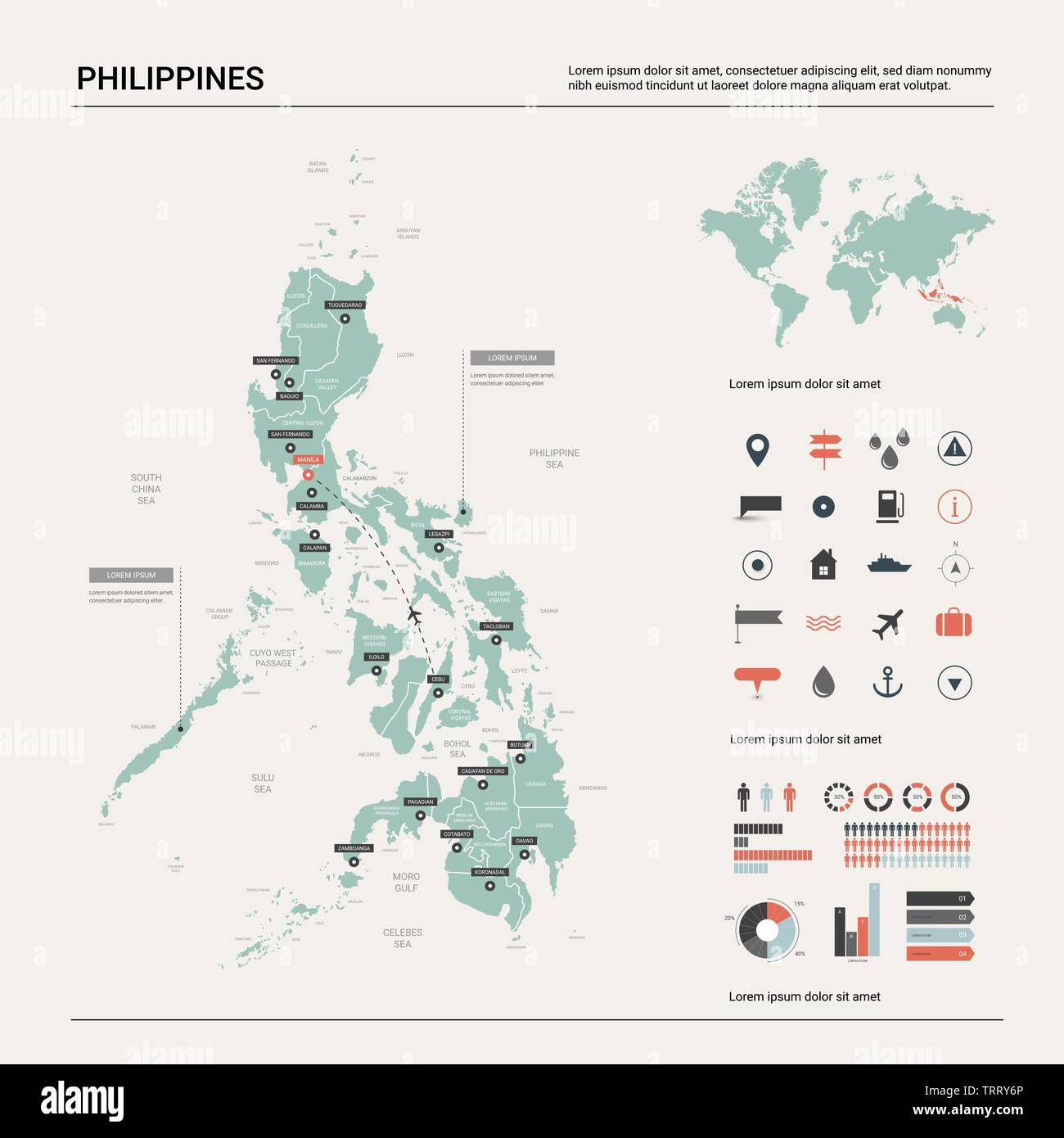 Illustration Map Of Philippines In World on map showing philippines, map of philippines in imperialism, map of philippines in asia, map of bohol island philippines, map of morocco and surrounding countries, map of philippines on world map,