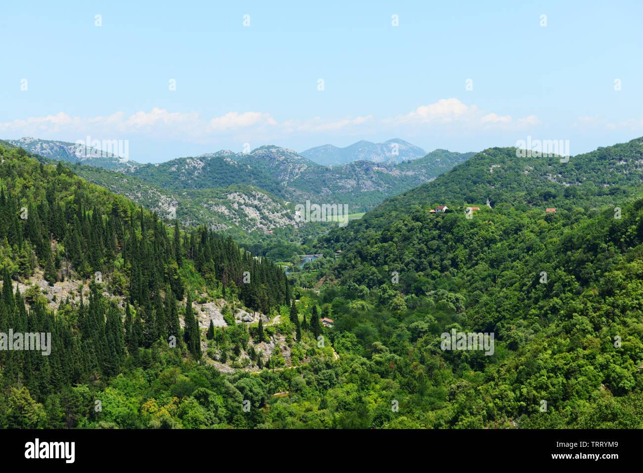 Beautiful landscapes around Rijeka Crnojevića in Montenegro. - Stock Image