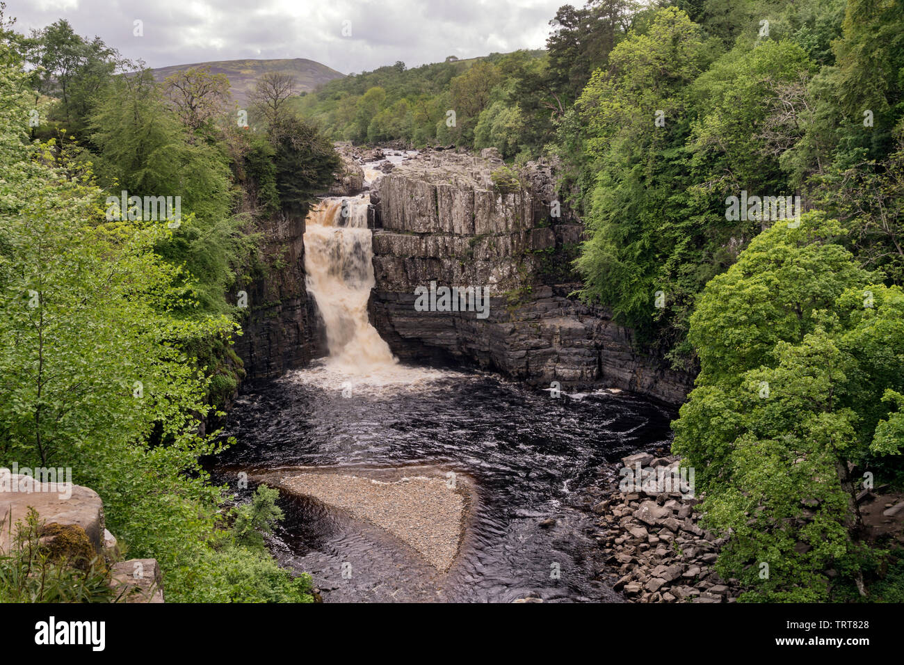 High Force, Teesdale. - Stock Image