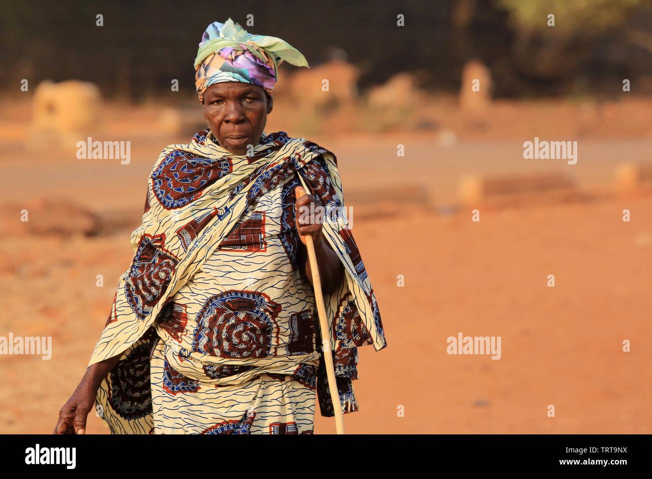 Femme togolaise.Togo. Afrique de l'Ouest. - Stock Image