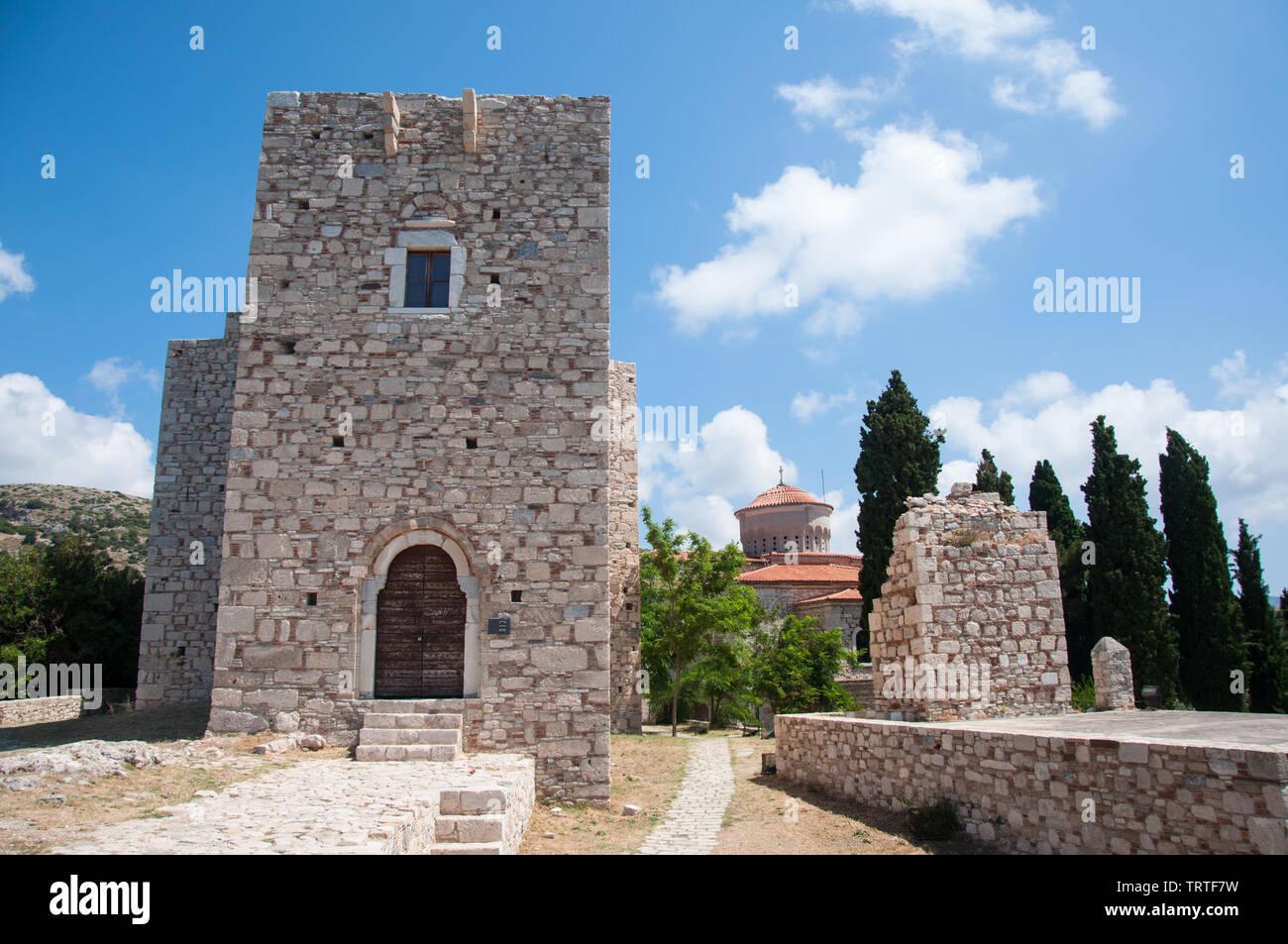 Castle of Lykourgos Logothetis on Samos island in the Aegean Sea, Greece Stock Photo