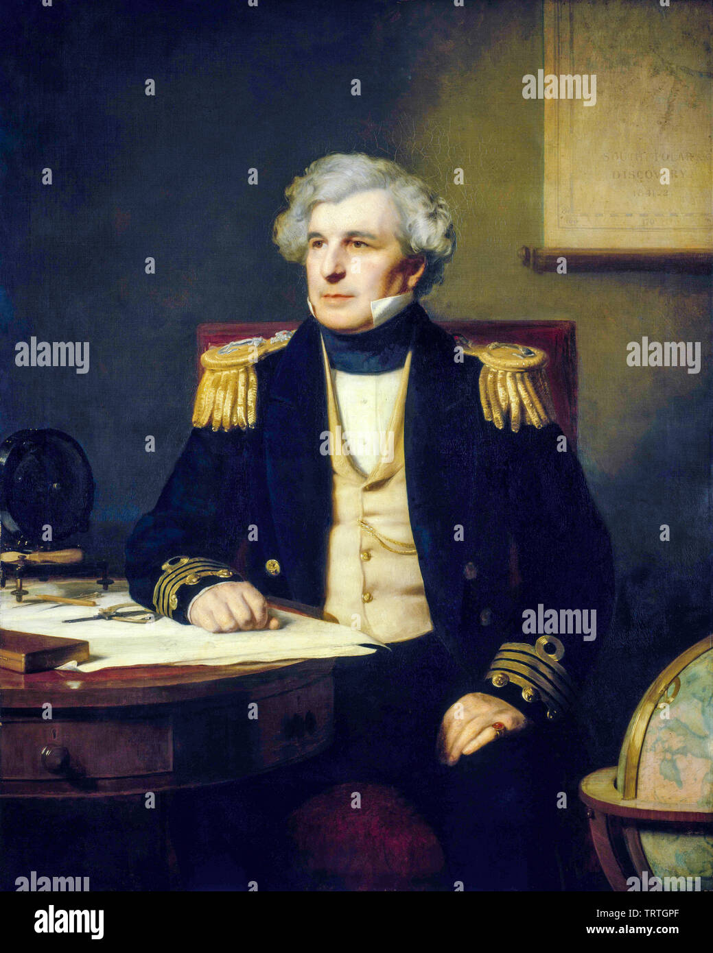 Captain Sir James Clark Ross, 1800-1862, portrait painting, 1871 - Stock Image