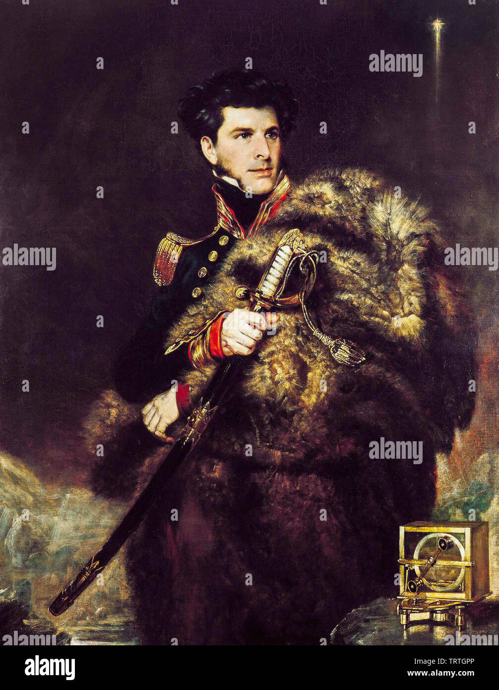 Commander James Clark Ross, 1800-62, portrait painting, 1834 - Stock Image