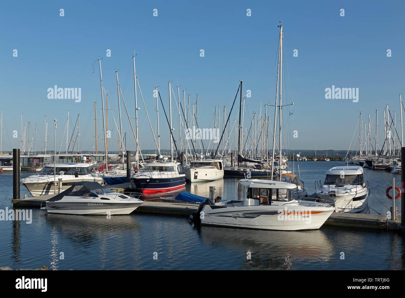 marina, Weisse Wiek, Boltenhagen, Mecklenburg-West Pomerania, Germany - Stock Image