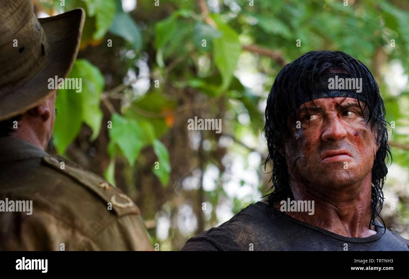 SYLVESTER STALLONE in JOHN RAMBO (2008). Copyright: Editorial use only. No merchandising or book covers. This is a publicly distributed handout. Access rights only, no license of copyright provided. Only to be reproduced in conjunction with promotion of this film. Credit: MILLENNIUM FILMS / Album - Stock Image