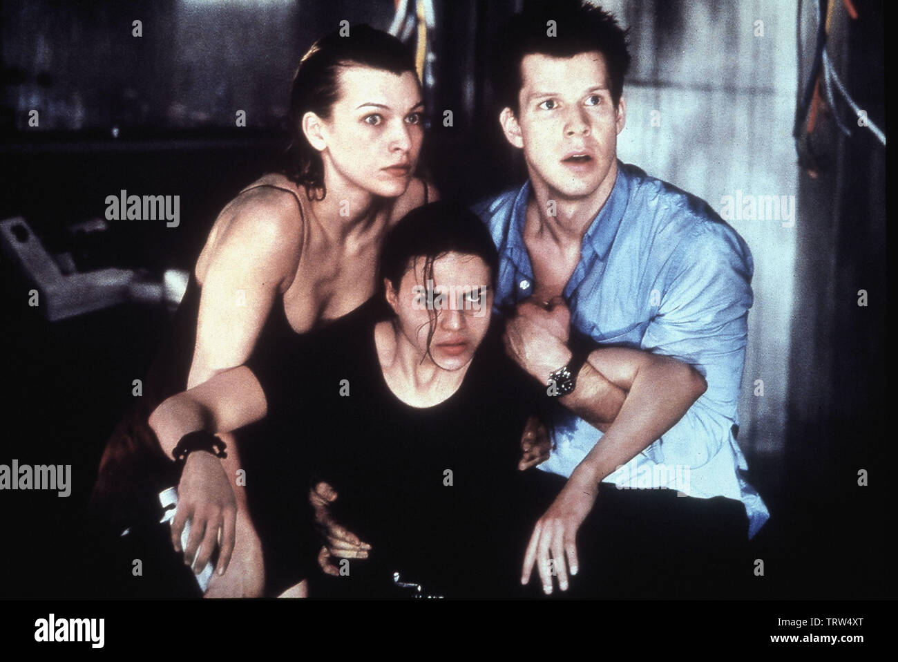 Milla Jovovich Michelle Rodriguez And Eric Mabius In Resident