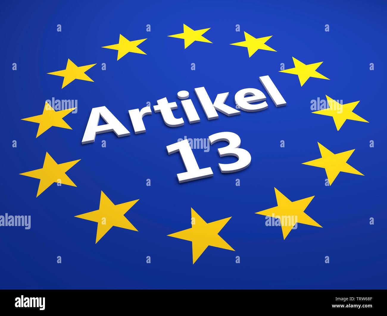 Artikel 13 Stock Photo