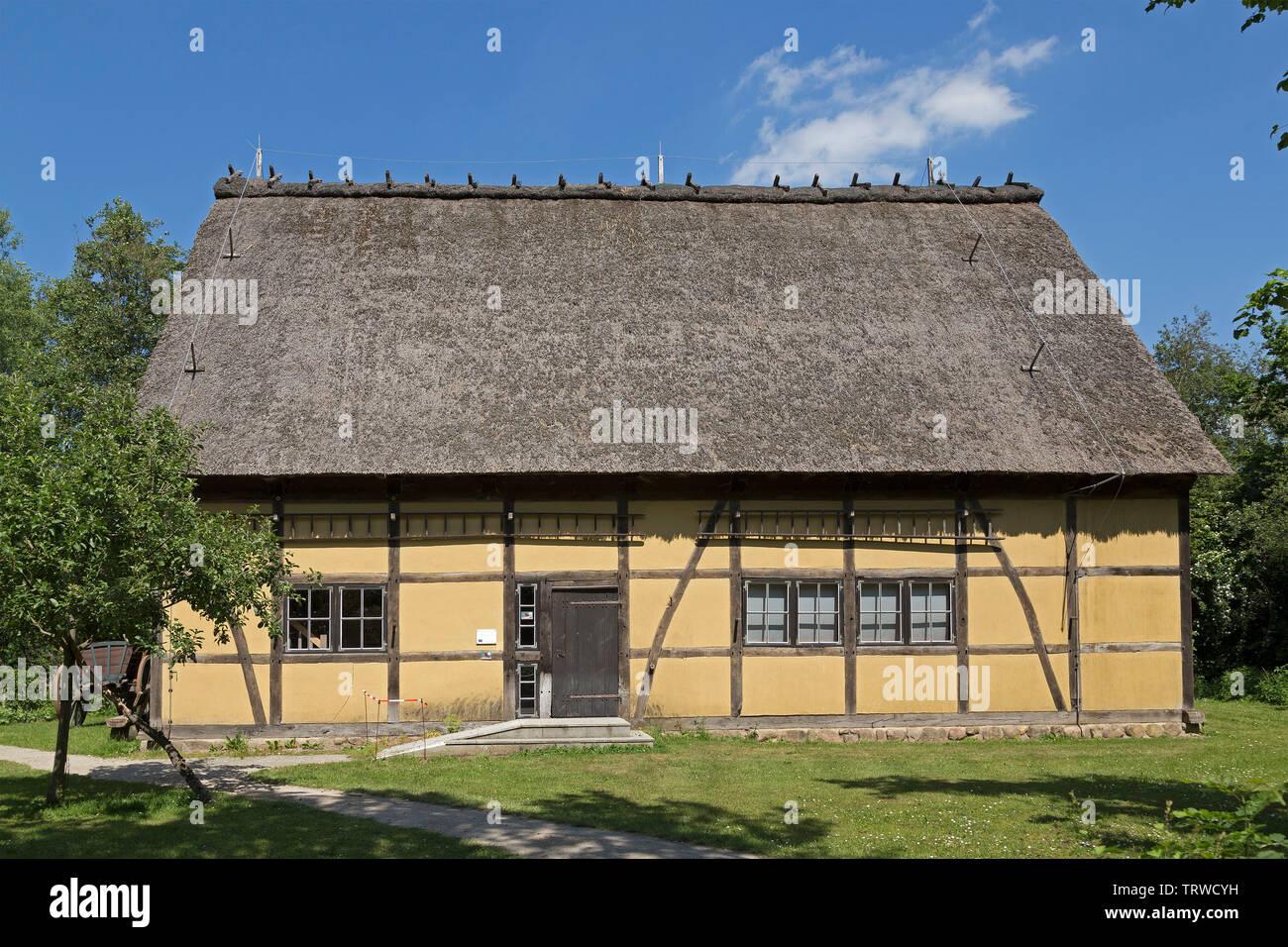 open-air museum during Kulturelle Landpartie, Luebeln, Wendland, Lower Saxony, Germany - Stock Image