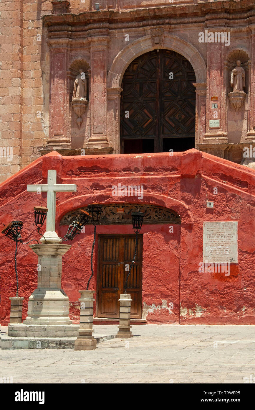 Plaza de San Roque, Guanajuato, state of Guanajuato, Mexico. - Stock Image