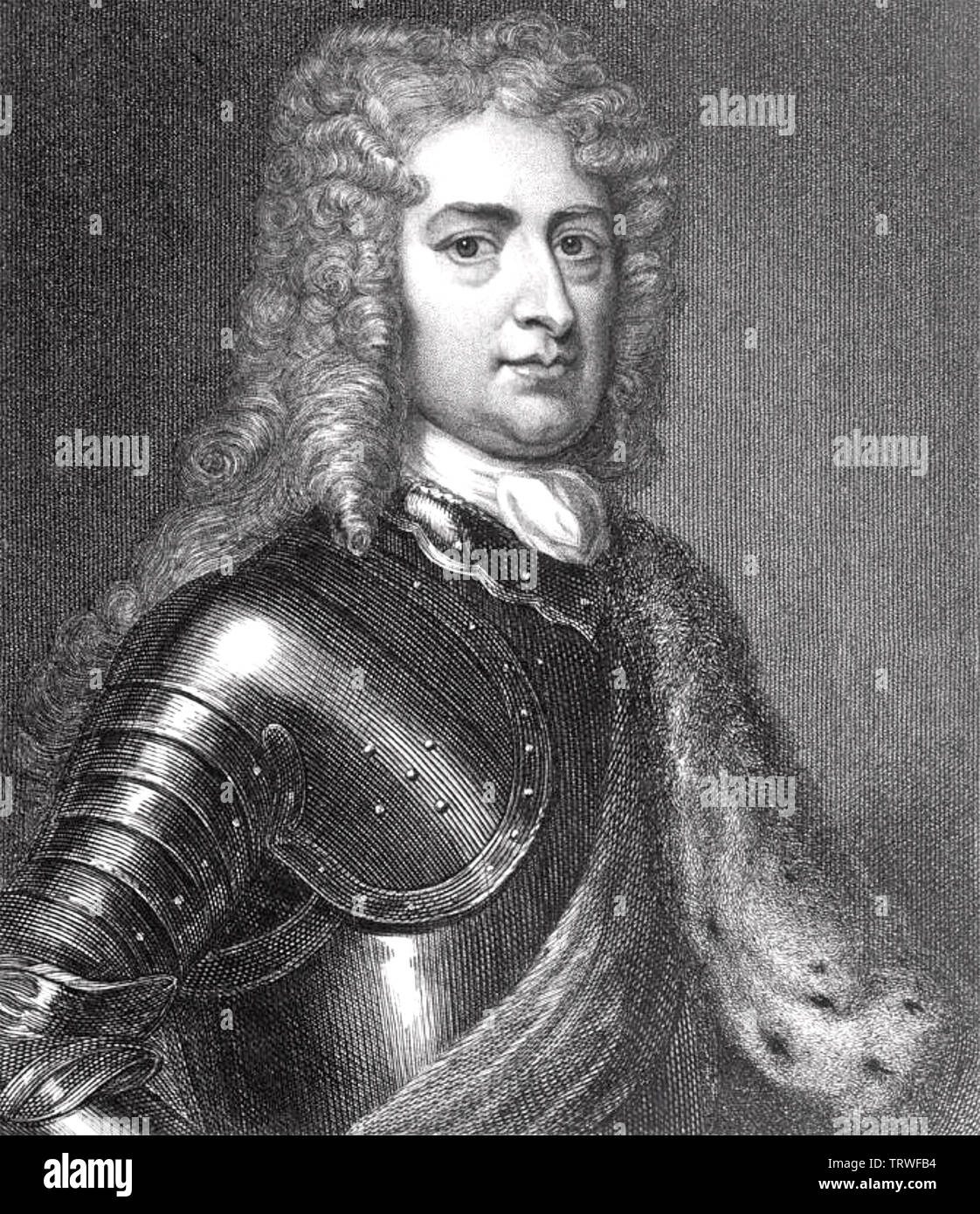JOHN CHURCHILL, 1st Duke of Marlborough (1650-1722) English soldier and statesman - Stock Image