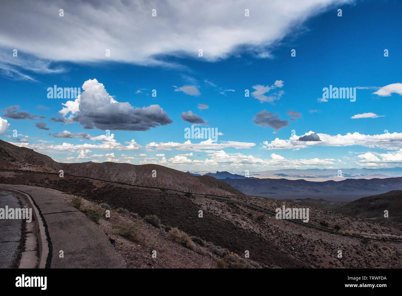 Death-Valleey-Nationalpark,Mojave-Wüste,USA,Sierra;Kontrastlandschaft Nevada,California,Nevada,desert,USA - Stock Image