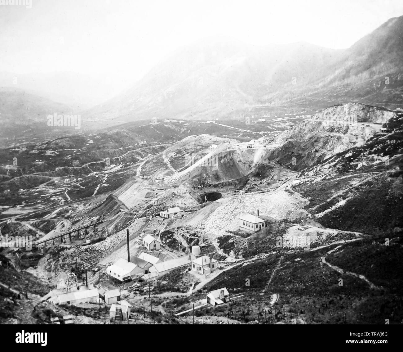 1942 View of Mill at Copper Mine Historic Photo Print Arizona Morenci
