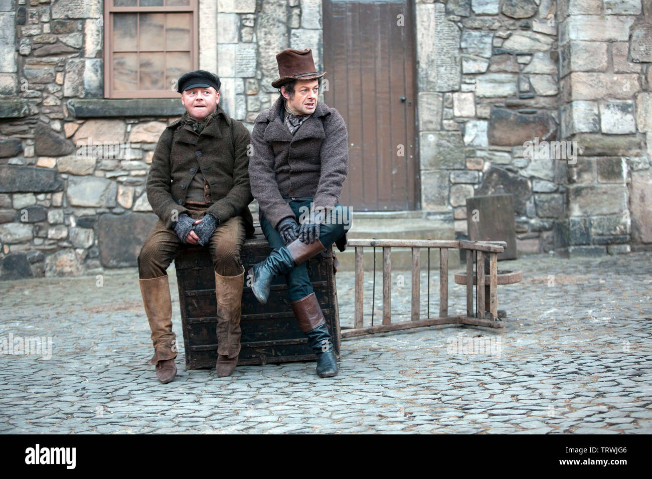 Andy Serkis And Simon Pegg In Burke And Hare 2010