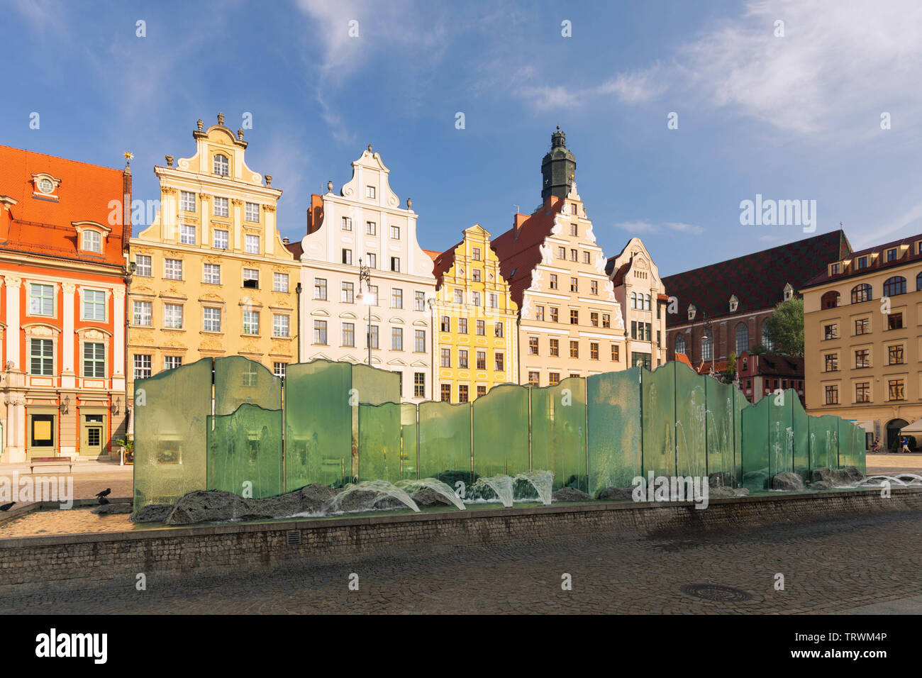 Wroclaw. Wroclaw.  The old town with a city fountain Stock Photo