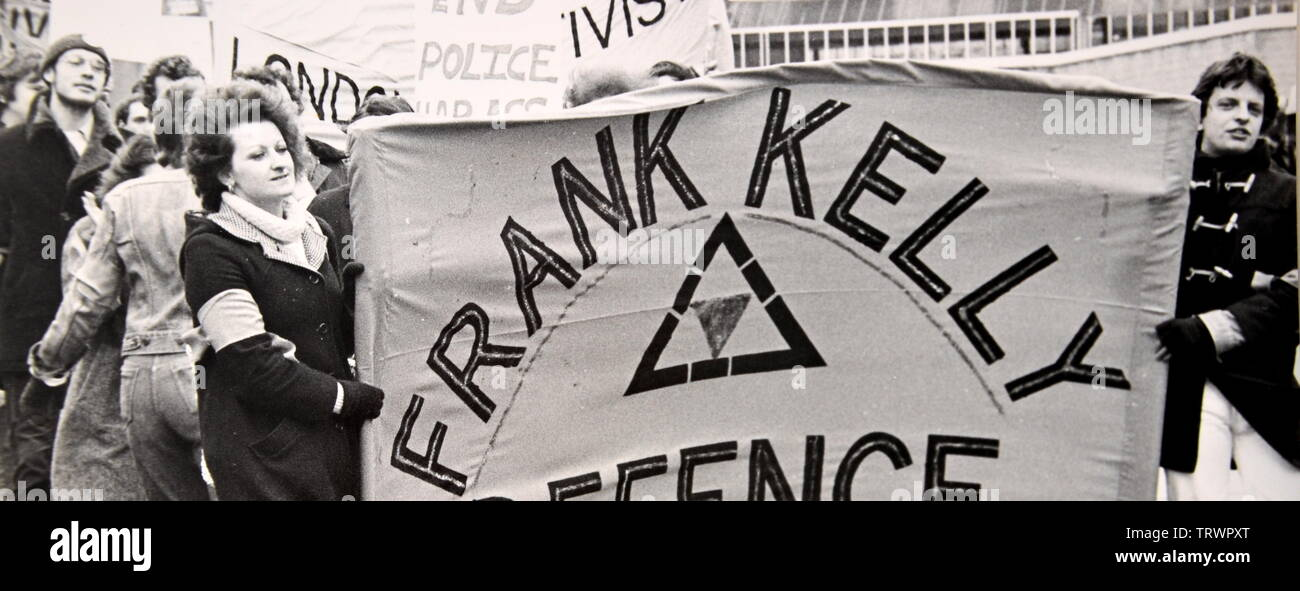 Frank Kelly defence march in Bradford, Yorkshire, England, February 10, 1979.  This was part of the campaign for an equal age of consent for gay men. In 1979 the age of consent for gay men was 21. It was reduced to 18 in 1994 and to 16, in line with the age of consent for heterosexuals, in 2001. - Stock Image