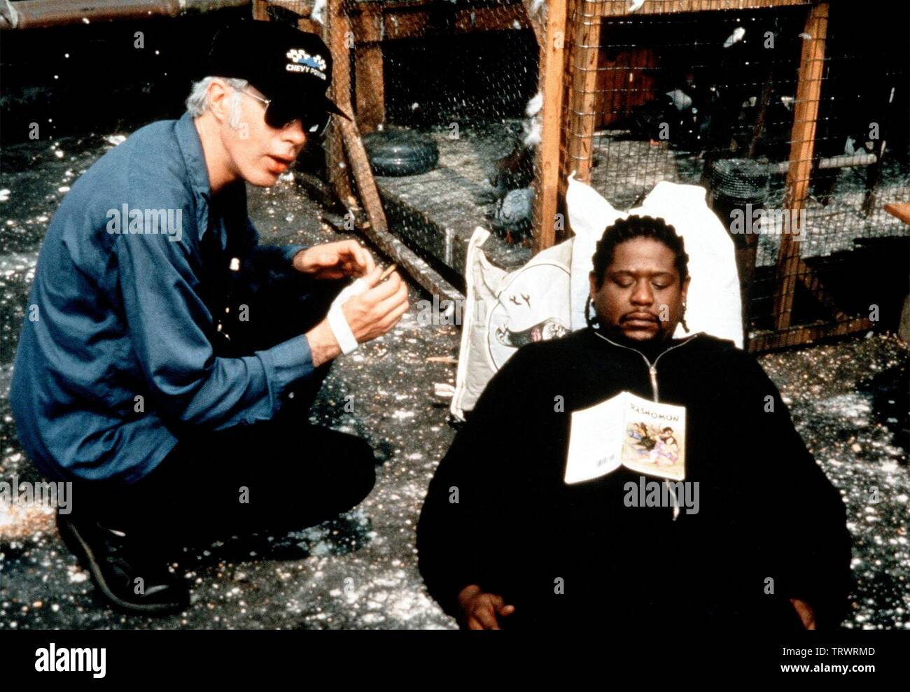 FOREST WHITAKER and JIM JARMUSCH in GHOST DOG: THE WAY OF