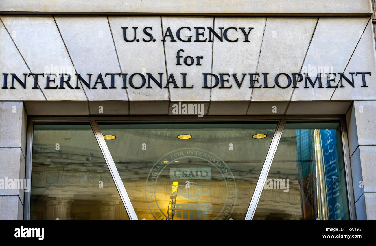 US Agency International Development AID Ronald Reagan International Trade Building Washington DC - Stock Image