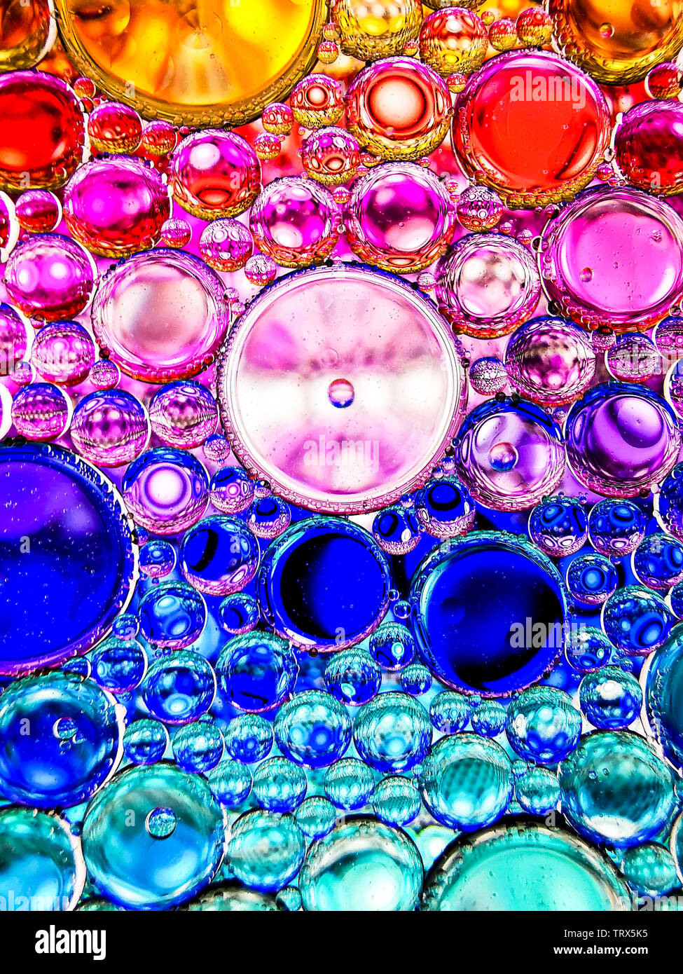 Neon Rainbow Colorful Oil Bubbles Abstract Textures For Backgrounds Stock Photo Alamy