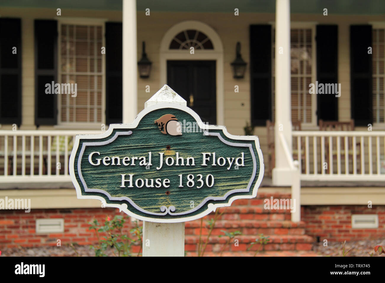 The John Floyd home belonged to a prominent Georgia politician and is one of the oldest structures in the St. Marys Historic District Stock Photo