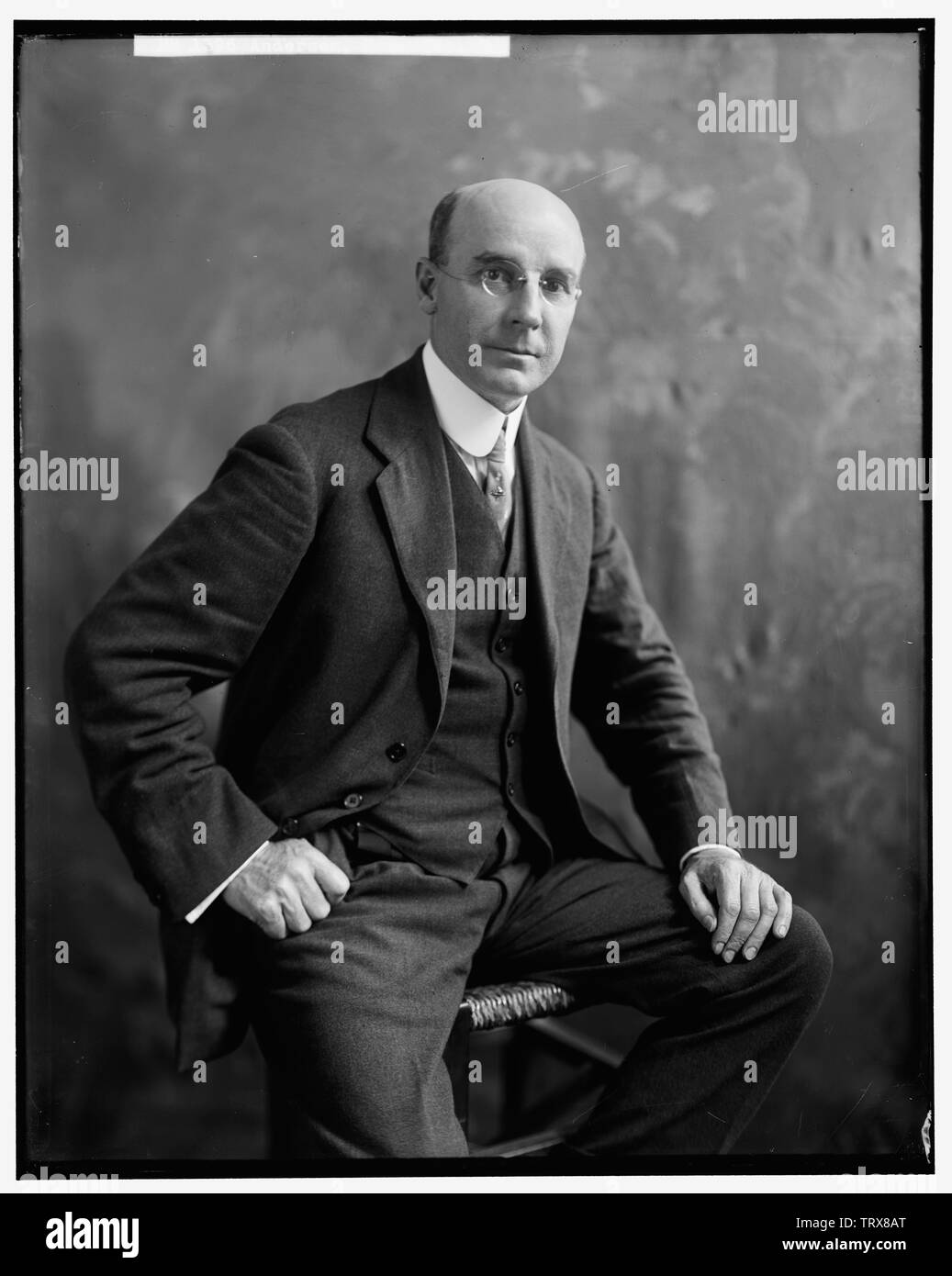 'English: Title: Anderson, Hon. Geo. E. Abstract/medium: Harris & Ewing photograph collection  Physical description: 1 negative :; between 1905 and 19 - Stock Image