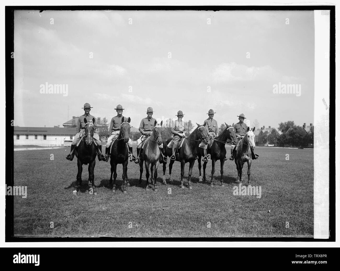 'English: Title: Annual endurance test, Fort Riley & Fort Myer cavalry, [9/24/24] Abstract/medium: 1 negative: glass; 5 x 7 in. or smaller; 1924; Li - Stock Image