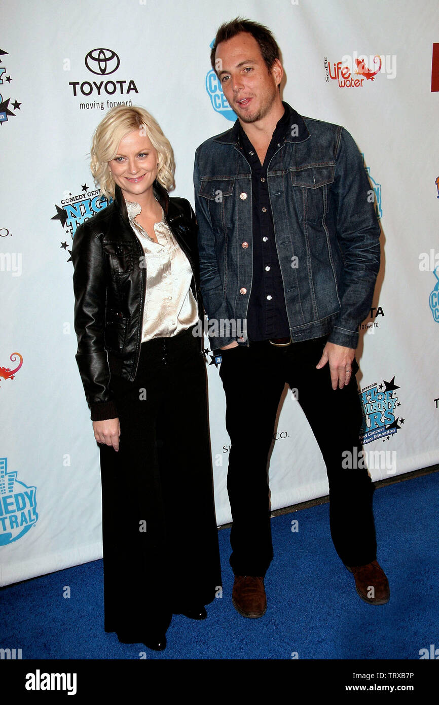 New York, USA. 13 April, 2008. Amy Poehler, Will Arnett at Comedy Central's Night of Too Many Stars hosted by Jon Stewart at The Beacon Theater. Credit: Steve Mack/Alamy Stock Photo