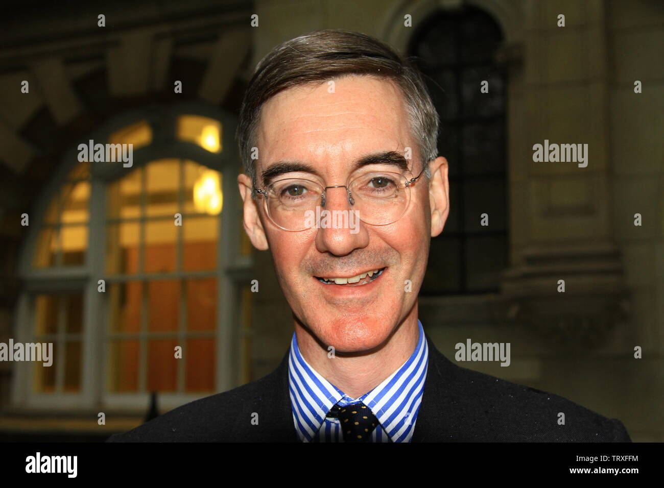 JACOB RES - MOGG MP IN WESTMINSTER, LONDON, UK ON THE 12TH JUNE 2019. MR.REES - MOGG GAVE HIS CONSENT FOR THIS PHOTOGRAPH TO BE TAKEN FOR ALAMY ARCHIVE AND REPORTAGE. Stock Photo
