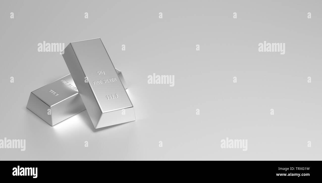 Silver Bars - Stock Image