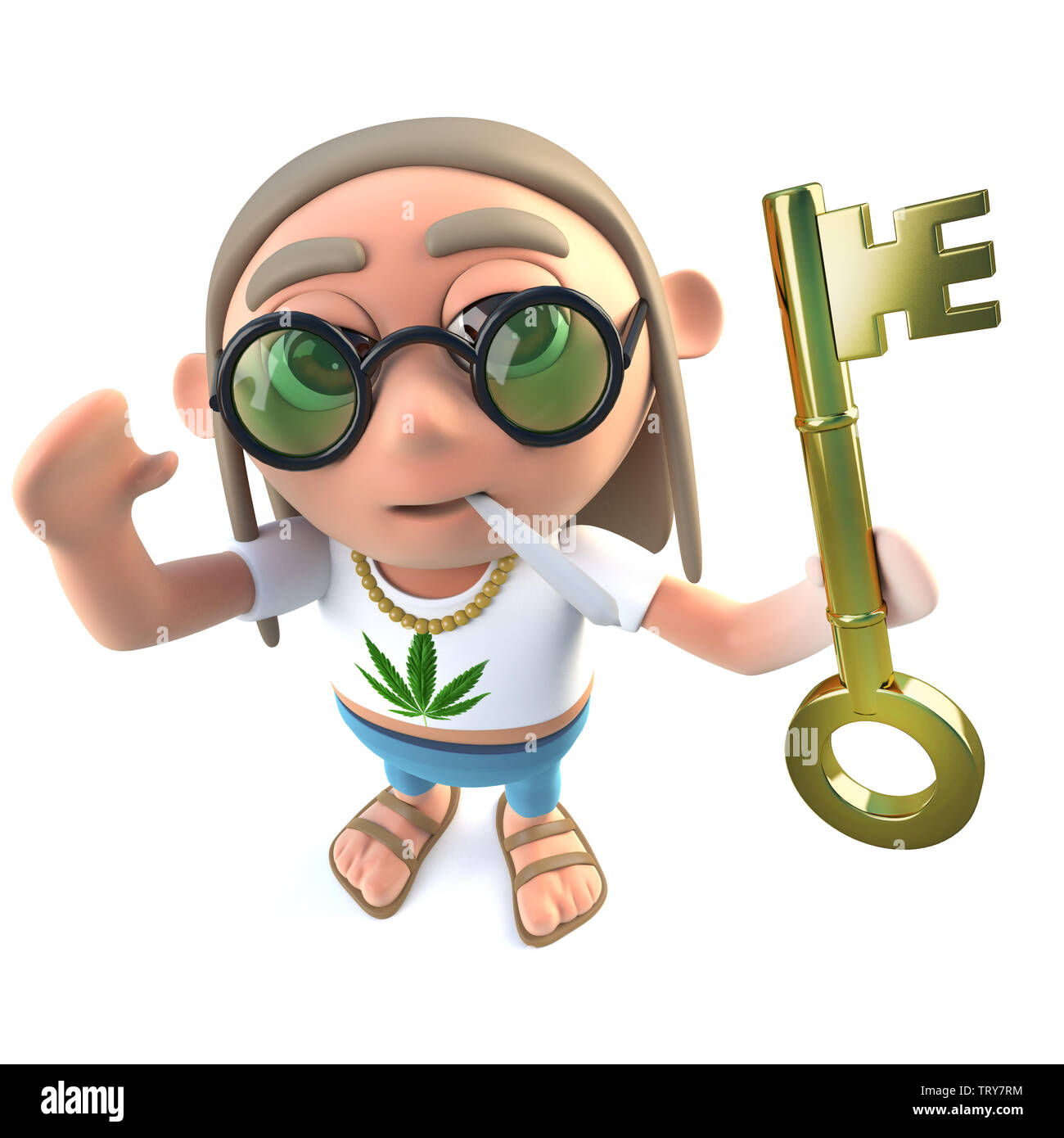 3d render of a funny cartoon hippy stoner character holding a gold key symbolising success stock photo alamy https www alamy com 3d render of a funny cartoon hippy stoner character holding a gold key symbolising success image255681096 html