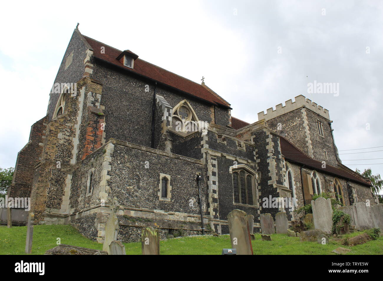 Stone church. - Stock Image