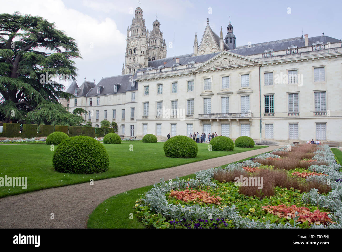 The art museum and its grounds in Tours Stock Photo
