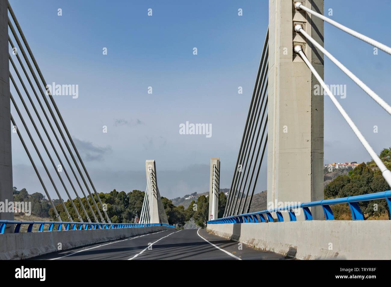 Das Viadukt von Teror auf Gran Canaria - Stock Image